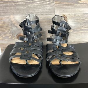 Sam Edelman Gladiator Beck Black Flat Sandals
